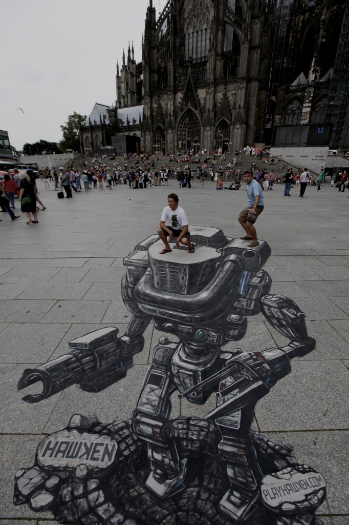 Hawken 3D Street Art at Gamescom