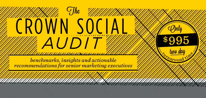 Announcing the Crown Social Audit™ — A tool for senior client-side marketers