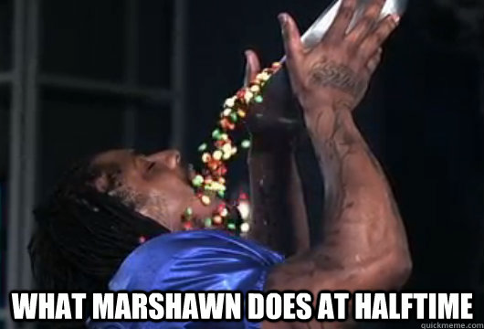 Marshawn likes the skittles